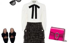 Iced latte- Tweed skirt