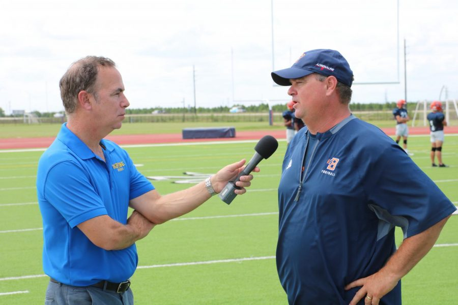 Coach Raffield during an interview last season with KUBE.