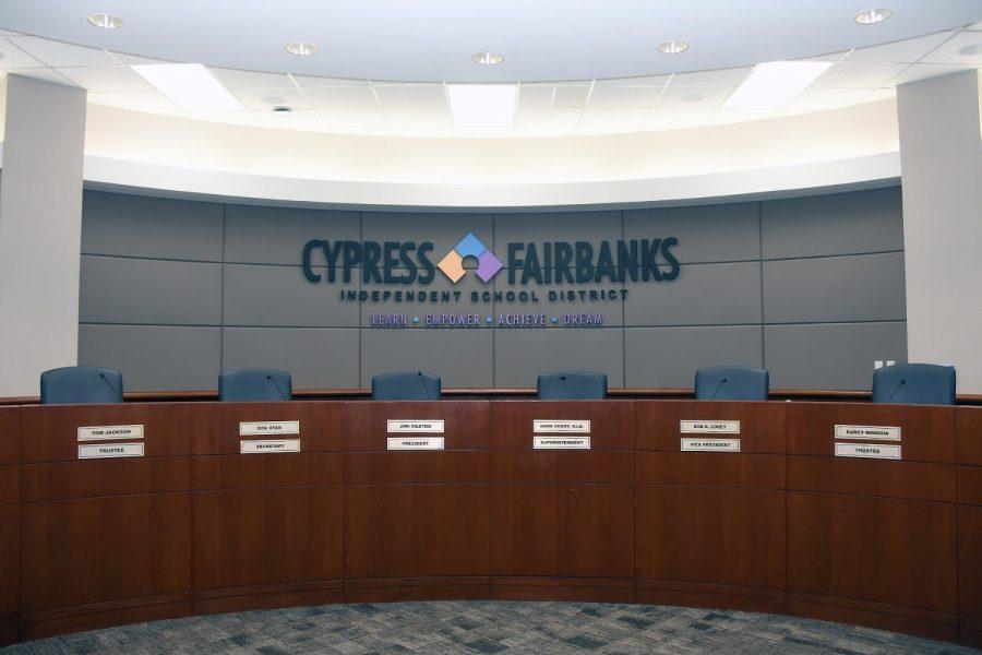 The CFISD board room