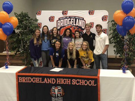 10 Bridgeland Athletes signed letters of intent earlier this semester to continue their athletic and academic careers in college.