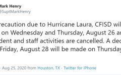 CFISD closes campuses for two days with Hurricane Laura on horizon