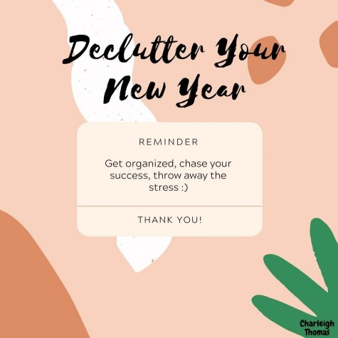 "Made with Canva, ""Declutter Your New Year"""